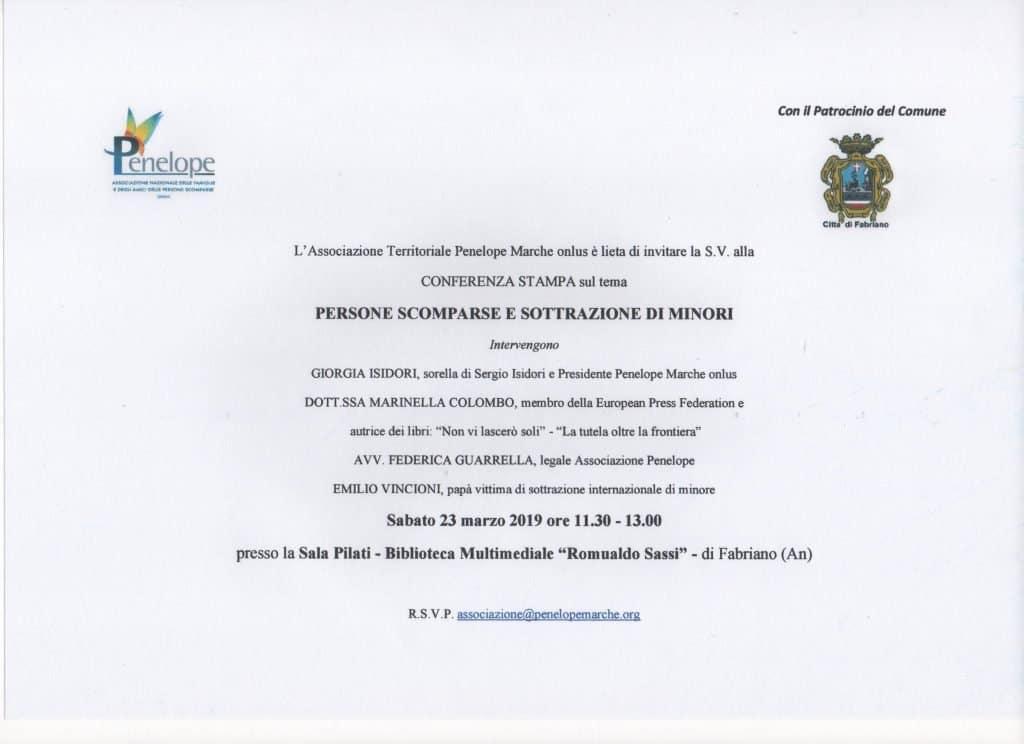 Conferenza Stampa a Fabriano